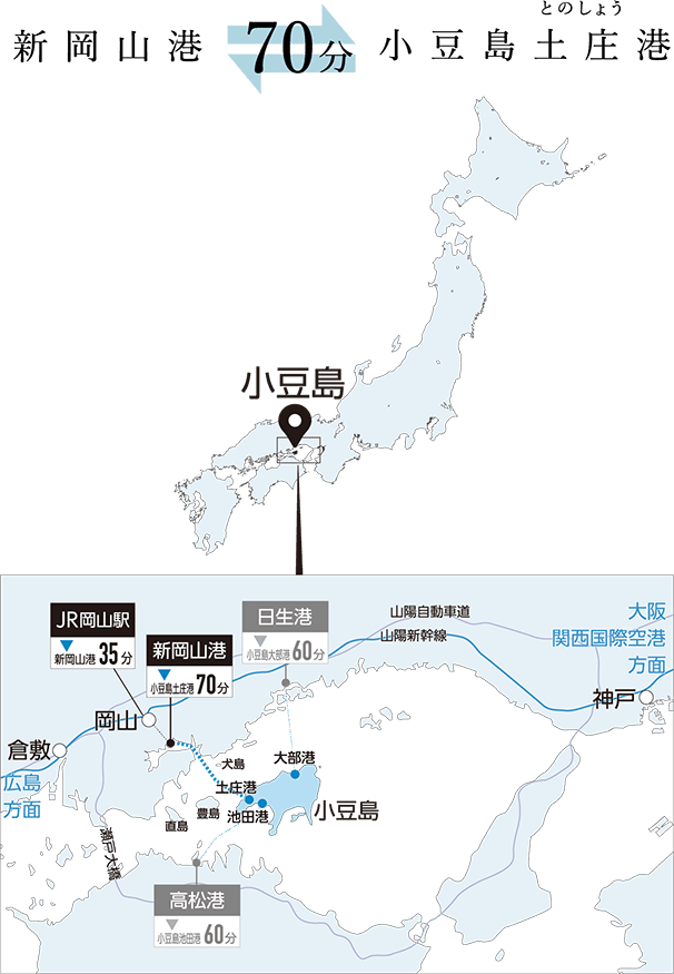 신오카야마항~쇼도시마 도노쇼항 70분